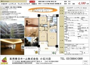 小石川ザ・レジデンスWEST1F 4,380万